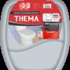 Assento sanitário almofadado Thema, cinza claro - Herc