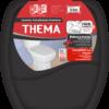 Assento sanitário almofadado Thema, preto - Herc