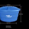 Caixa para água em polietileno, 500 litros - Fibra Oeste
