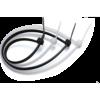 Abraçadeira de nylon 100 x 2,5 mm preta - Decorlux